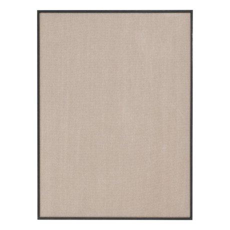 Ferm Living Pinboard Scenery beige black cotton wood 75x3,5x100cm