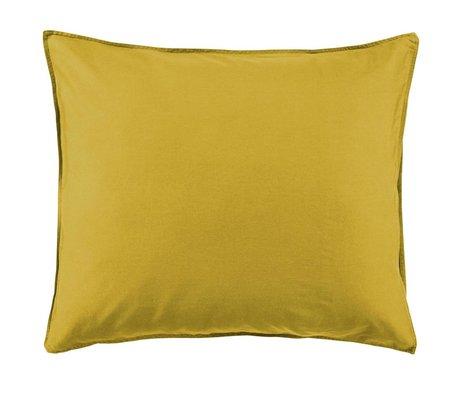 ESSENZA Pillowcase Minte Golden yellow cotton satin 60x70cm