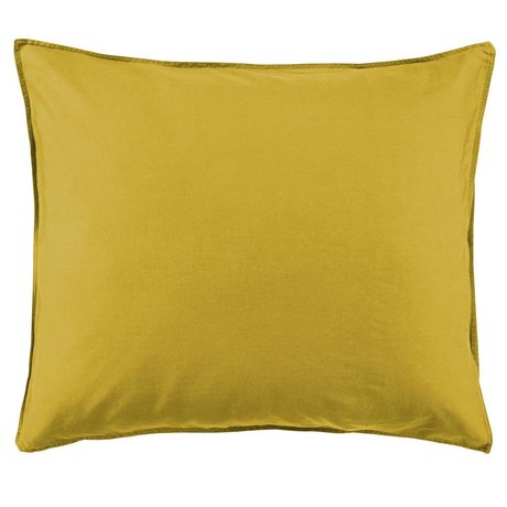 ESSENZA Kussensloop Minte Golden geel katoen satijn 60x70cm