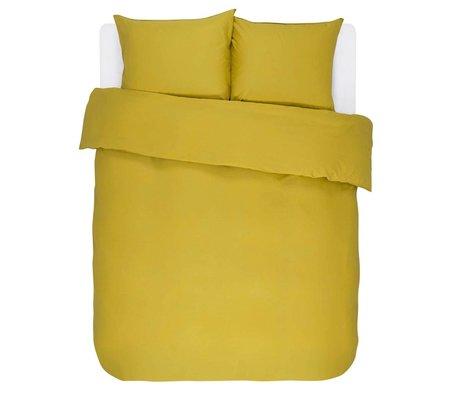 ESSENZA Dekbedovertrek Minte Golden geel katoen satijn 240x220+2/60x70cm
