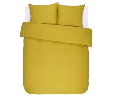 ESSENZA Duvet cover Minte Golden yellow cotton satin 200x220 + 2 / 60x70cm