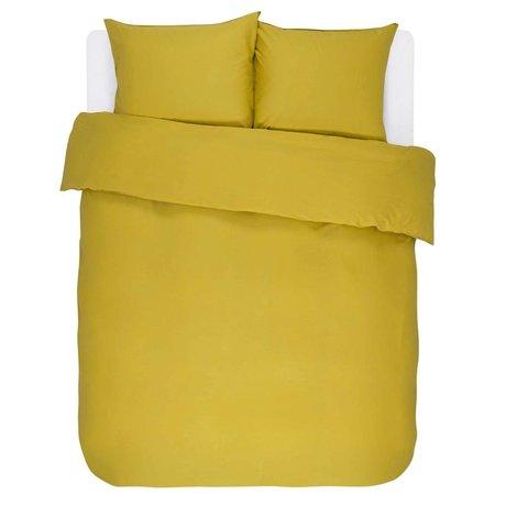 ESSENZA Housse de couette Minte Satin de coton jaune doré 200x220 + 2 / 60x70cm