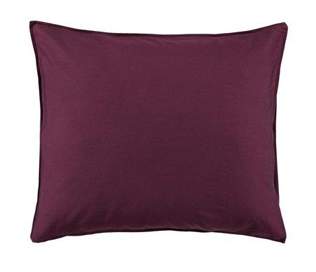 ESSENZA Taie d'oreiller Minte Burgundy satin de coton violet 60x70cm