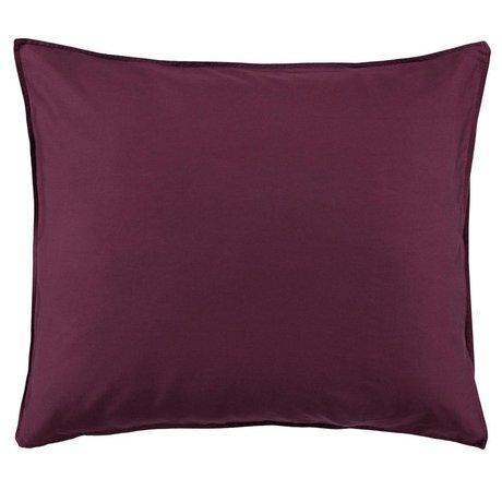 ESSENZA Pillowcase Minte Burgundy purple cotton satin 60x70cm
