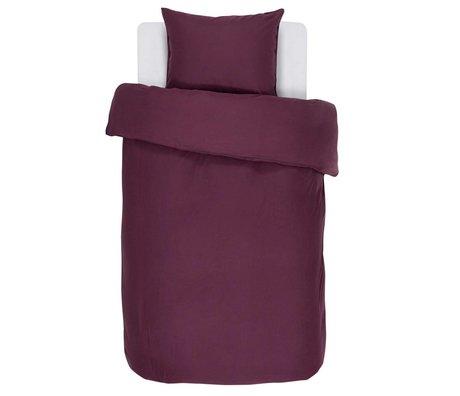 ESSENZA Housse de couette Minte Burgundy satin de coton violet 140x220 + 60x70cm