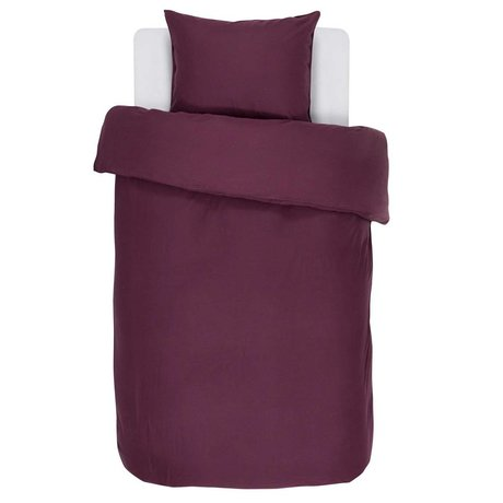 ESSENZA Duvet cover Minte Burgundy purple cotton satin 140x220 + 60x70cm