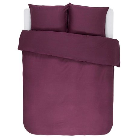 ESSENZA Duvet cover Minte Burgundy purple cotton satin 200x220 + 2 / 60x70cm
