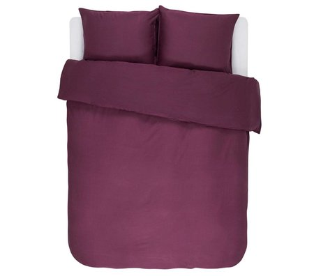 ESSENZA Duvet cover Minte Burgundy purple cotton satin 240x220 + 2 / 60x70cm