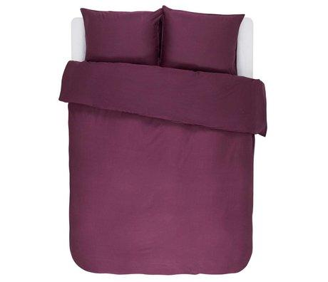 ESSENZA Housse de couette Minte Bordeaux satin de coton violet 240x220 + 2 / 60x70cm