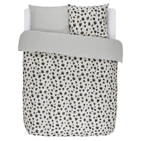 ESSENZA Bettbezug Madea Ecru weiße Baumwolle Flanell 240x220 + 2 / 60x70cm