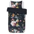 ESSENZA Bettbezug Fleur Nightblue blauer Baumwollsatin 140x220 + 60x70cm