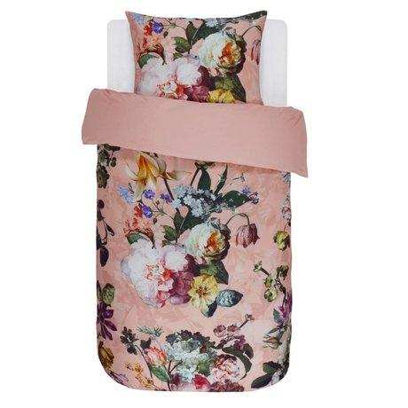 ESSENZA Housse de couette Fleur en satin de coton rose 140x220 + 60x70cm