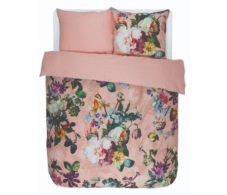 ESSENZA Housse de couette Fleur en satin de coton rose 240x220 + 2 / 60x70cm