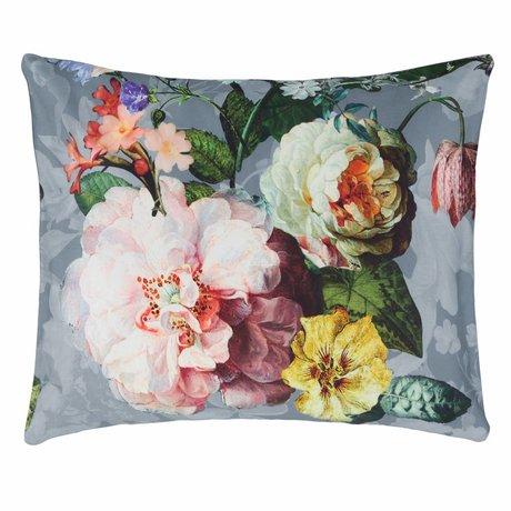 ESSENZA Pillowcase Fleur Faded blue cotton satin 60x70cm