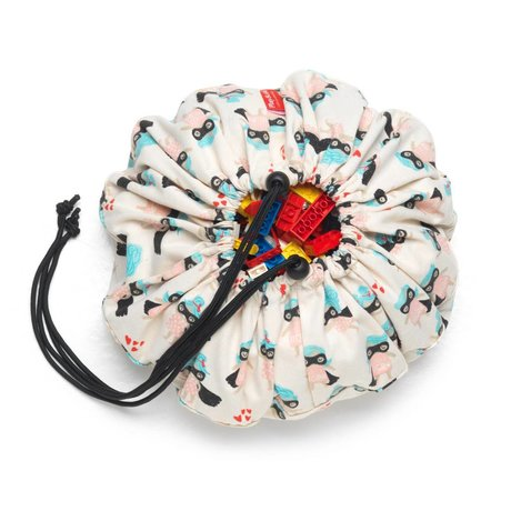 Play & Go Sac de rangement / tapis de jeu en coton multicolore Supergirl ø40cm