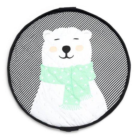 Play & Go Opbergzak/speelkleed/luiertas Polas bear groen jersey-katoen ø120cm