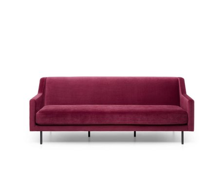 FÉST Sofa Ace Bordeaux rot Seven 39 Wingered 3,5zits 221x91x77cm
