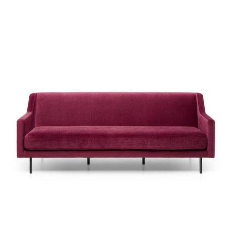 FÉST Sofa Ace bordeaux red Seven 39 Wingered 3,5zits