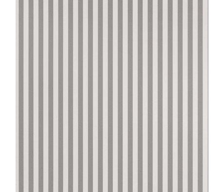 Ferm Living Tapete Dünne Linien grau cremefarbenes Papier 53x1000cm