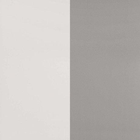 Ferm Living Behang Thick Lines grijs gebroken wit papier 53x1000cm