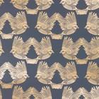 Ferm Living Behang Birds donkerblauw goud papier 53x1000cm