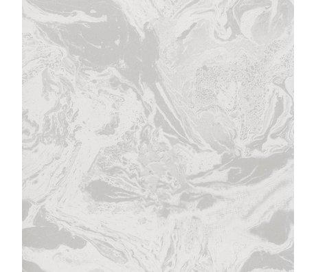 Ferm Living Papier peint papier beige marbré 53x1000cm