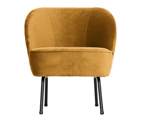 BePureHome Sessel Vogue senfgelb Samt 69x57x70cm