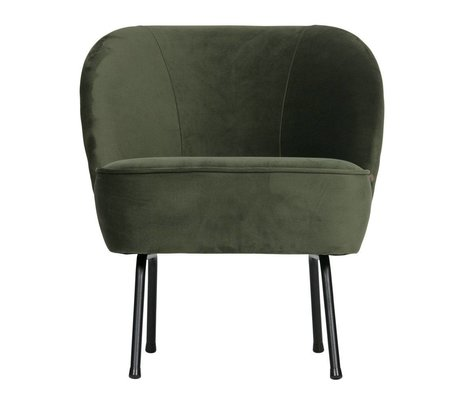 BePureHome Armchair Vogue onyx gray green velvet 69x57x70cm