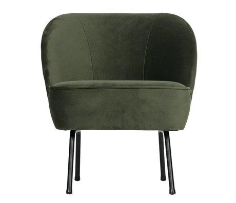 BePureHome Fauteuil Vogue onyx grijs groen fluweel 69x57x70cm
