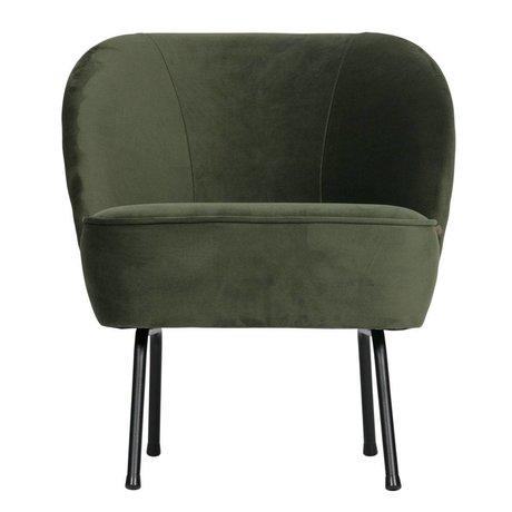 BePureHome Fauteuil Vogue onyx velours gris vert 69x57x70cm