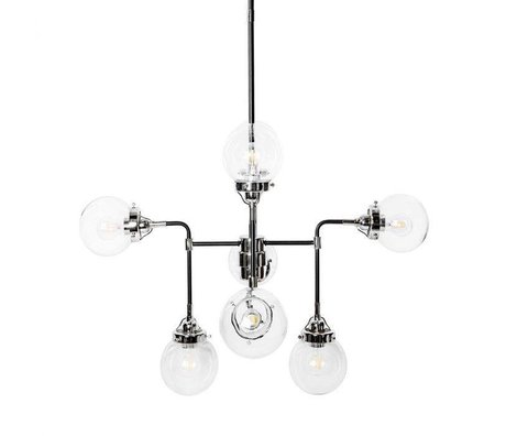 Riverdale Hanging lamp Sacha black metal 90x90x150cm