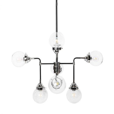 Riverdale Hanglamp Sacha zwart metaal 90x90x150cm