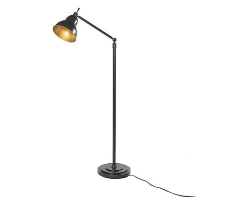 Riverdale Vloerlamp Jesse donker grijs metaal 31x31x150cm