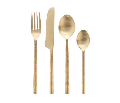 Riverdale Couverts Couture métal doré 4 pièces 26cm