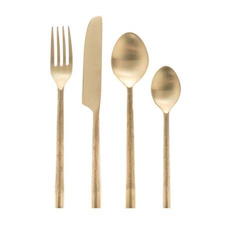 Riverdale Bestek Couture goud metaal 4-delig 26cm
