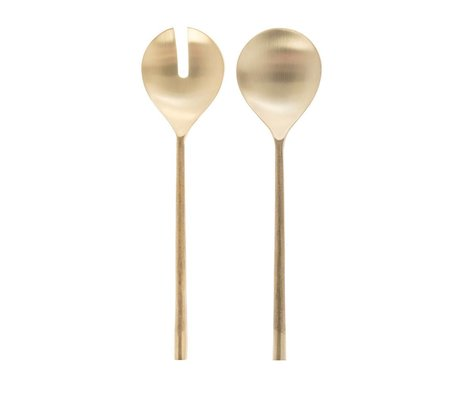 Riverdale Salad servers Couture gold metal 31cm