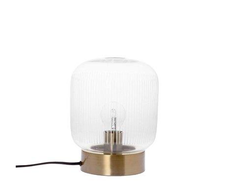 Riverdale Lampe à poser Stripes en laiton doré verre métal Ø20x25cm
