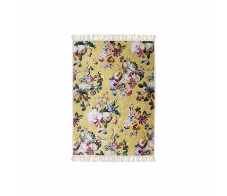 ESSENZA Teppich Fleur goldgelber Polyester 60x90cm