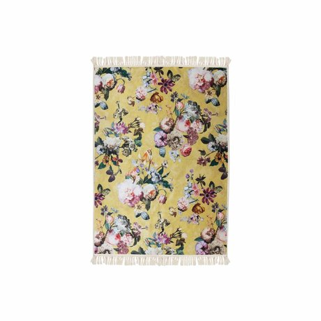ESSENZA Carpet Fleur golden yellow polyester 60x90cm