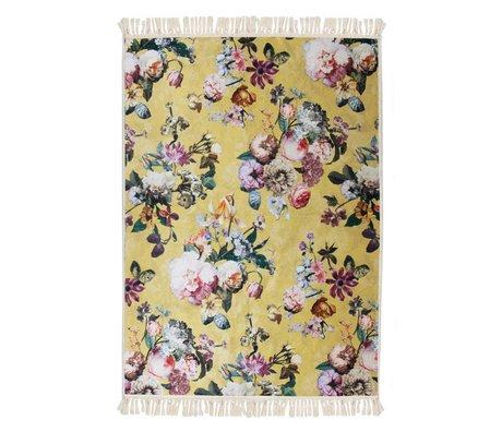 ESSENZA Teppich Fleur goldgelber Polyester 180x240cm