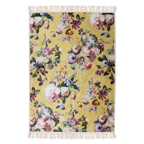 ESSENZA Carpet Fleur golden yellow polyester 180x240cm