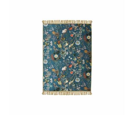 ESSENZA Carpet Xess petrol blue polyester 60x90cm