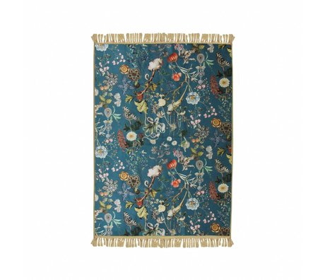 ESSENZA Carpet Xess petrol blue polyester 120x180cm