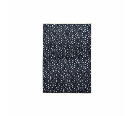 ESSENZA Vloerkleed Bory petrol blauw polyester 60x90cm