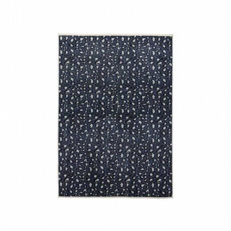 ESSENZA Carpet Bory petrol blue polyester 120x180cm