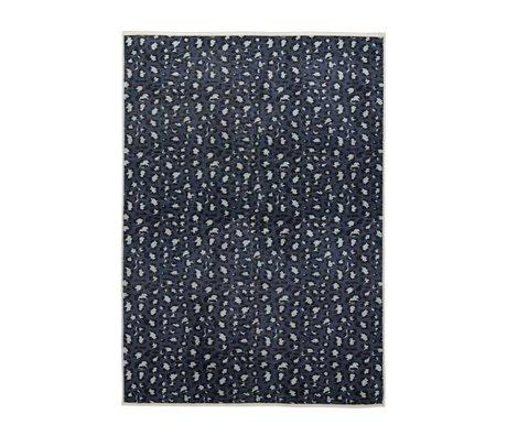 ESSENZA Tapis Bory bleu pétrole polyester180x240cm