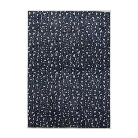 ESSENZA Tapis Bory bleu pétrole polyester 180x240cm