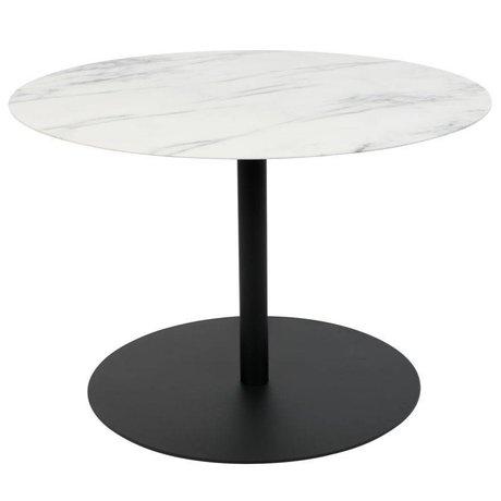 Zuiver Table d'appoint Snow Round en marbre noir métal M Ø60x40cm