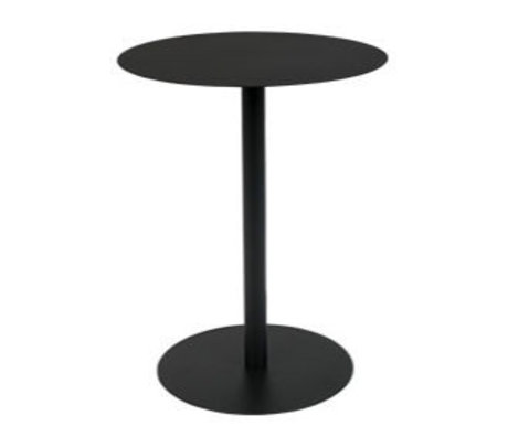 Zuiver Side table Snow Round black metal S Ø35x45cm