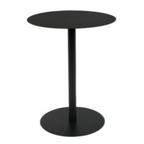 Zuiver Table d'appoint Snow Round en métal noir S Ø35x45cm